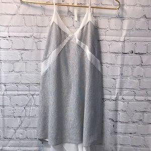 Zara sheer open back halter small cream and gray